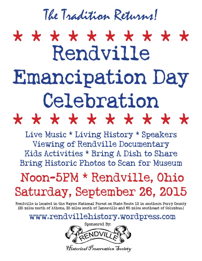 Rendville Emancipation Day Poster